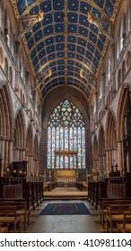 England, Carlisle - 24 April 2016: Carlisle Cathedral Nave Altar