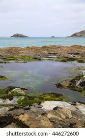 England, Cornwall, rocks and waves