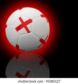 England flag on 3d football