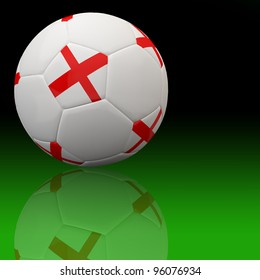 England flag on 3d football for Euro 2012 Group D