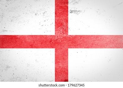 England flag on grunge paper