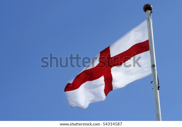 England flag and sky