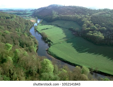 England, Gloucestershire, Forest of Dean, Wye Valley, View from Symonds Yat over River Wye