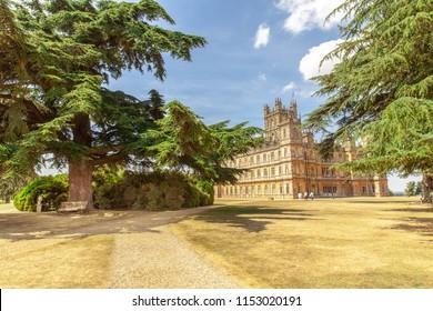 England, Hampshire - Juli 2018, Highere Castle Famous as Downton Abbey