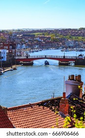 England, North Yorkshire, Whitby. Seaside town, port, civil parish in the Borough of Scarborough. Whitby has an established maritime, mineral and tourist economy.