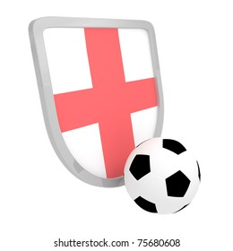 England shield soccer isolated on a white background