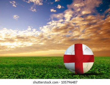 England a soccer  ball in European cup