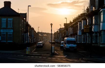 England, Sunderland - Feb 14, 2017: View Over Roker Avenue in Sunderland