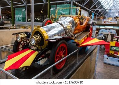 England / UK - February 2019: Beaulieu Motor Museum Chatty Chitty Bang Bang Car