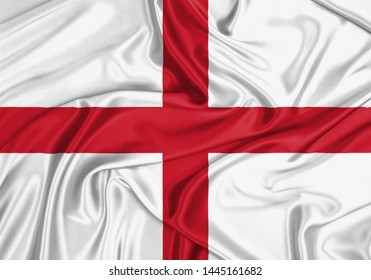 England waving silk wallpaper flag