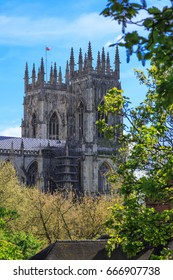 England, Yorkshire, York. The English Gothic style Cathedral and Metropolitical Church of Saint Peter in York, or York Minster.