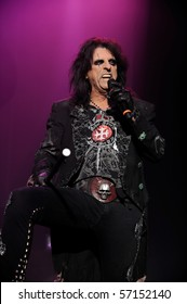 ENGLEWOOD, NJ - OCT 23: Alice Cooper performs on the eve of Halloween at Bergen Performing Art Center on October 23, 2008  in Englewood, NJ.