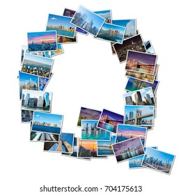 English alphabet letter made of New York photos