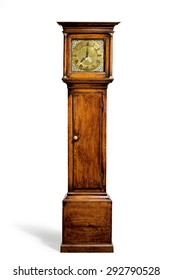 English antique tall long case clock known as grandfather clock for halls