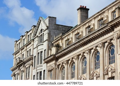 English architecture - old townhouses in Manchester, UK.