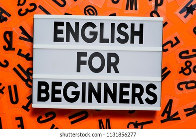 English for beginners concept