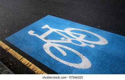 English bicycle lane sign