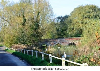 English bridge in countryside