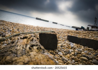 English channel and a wooden cover
