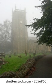 English church in winter