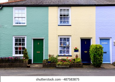 English colourful terraced houses in Southwold, Suffolk, UK