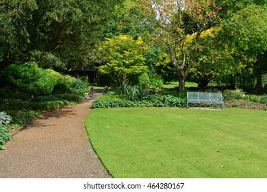 An English country garden in summer.