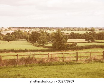 English countryside in Tanworth in Arden Warwickshire, UK vintage