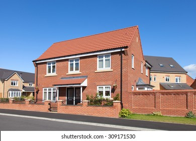 English detached house view
