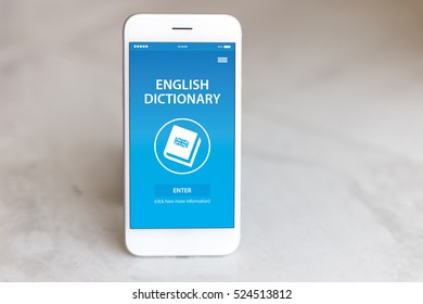 English Dictionary App on Screen