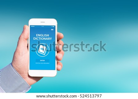 English Dictionary App On Screen Stock Photo (Edit Now) 524513797