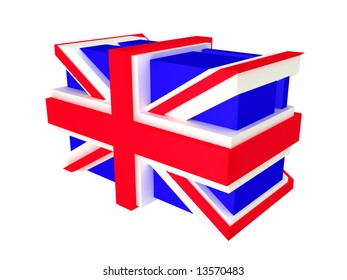 English flag 3d isolated