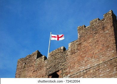 english flag on top of castle