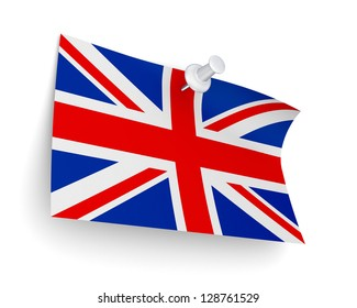 English flag.Isolated on white background.3d rendered.