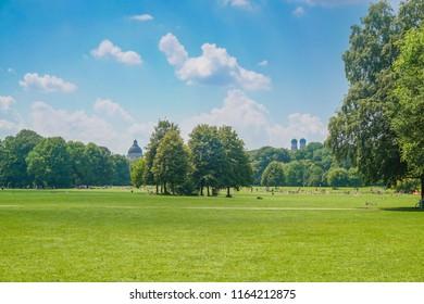 English garden in Munich, Bayern, Germany, Europe