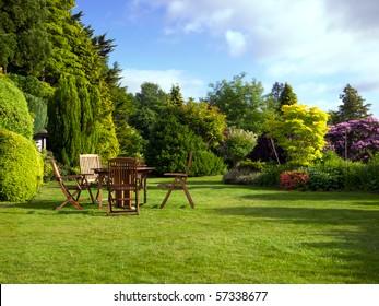 English garden in summer