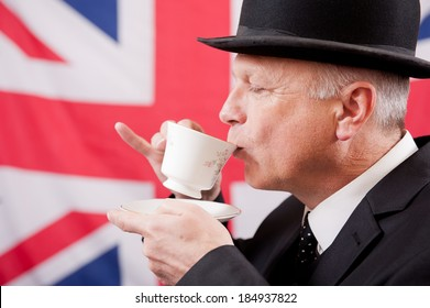 English Gentleman Drinking Tea