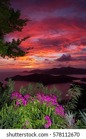 English Harbour Sunset from Shirley Heights, Antigua
