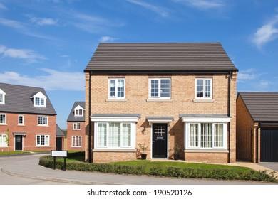English housing estate view