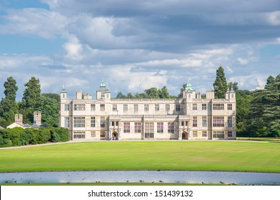 English manor from 17th century near Saffron Walden, an example of Jacobean architecture.