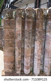 English Medieval pillar from an English Cathedral. Medieval pillar ruined from an English Medieval cathedral.