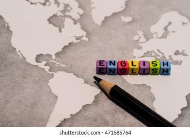 ENGLISH on world map