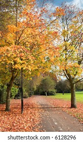 English Park In The Autumn (Fall)