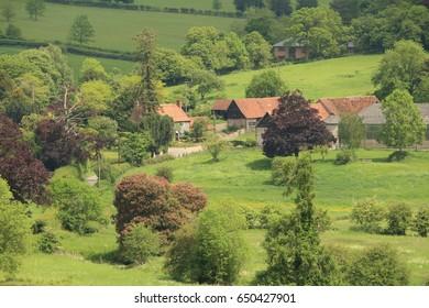 An English Rural Landscape in the Hambleden Valley in the Chiltern Hills