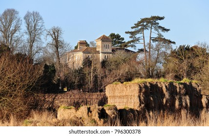 English Rural Manor House bathed in Winter sunshine