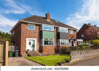 English semi detached house