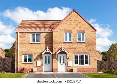 English semi detached house
