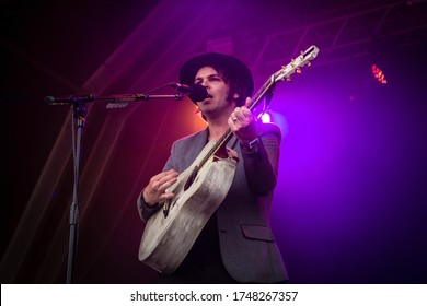 English singer and song writer Gaz Coombes performing live at Standon Calling Festival Uk, 29th July 2018