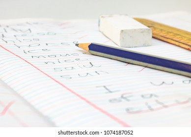 English Spelling Test and Stationary