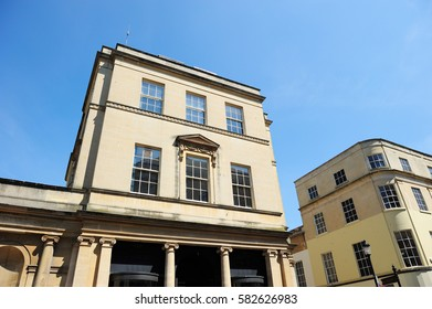 English style building in Bath, England