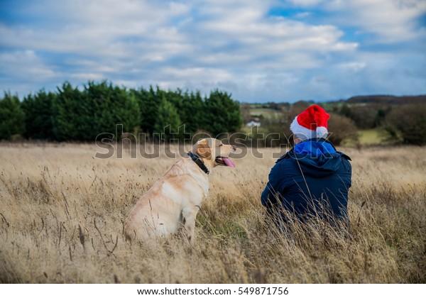English Style Christmas No Snow Green Stock Photo Edit Now 549871756